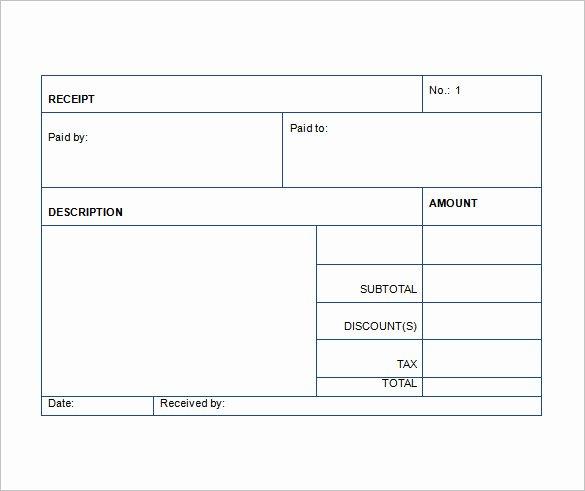 Sales Receipt Template Excel Unique Sales Receipt Template 22 Free Word Excel Pdf format