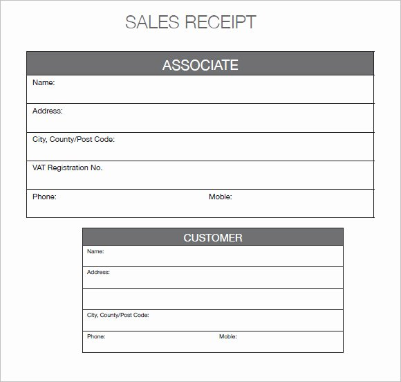 Sales Receipt Template Free Best Of 9 Sales Receipt Templates – Free Samples Examples