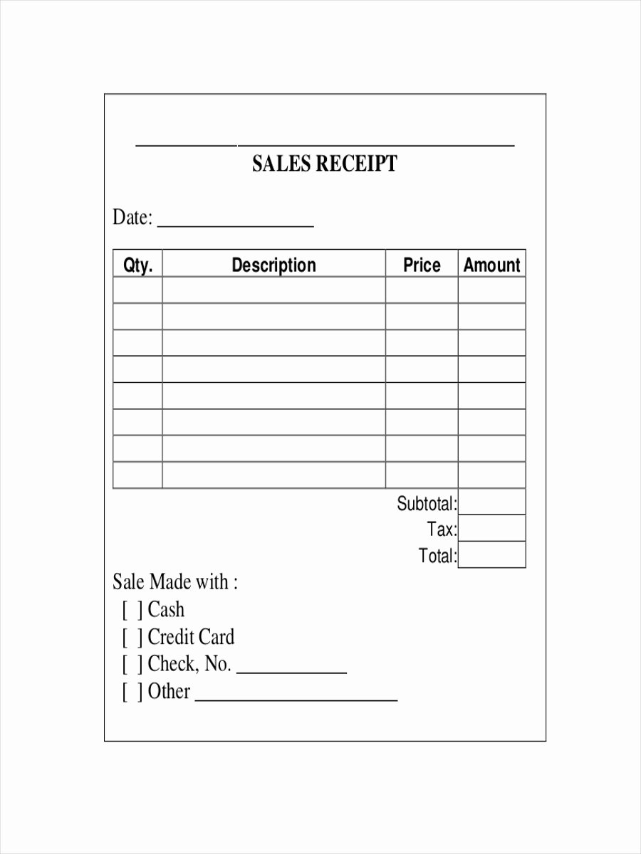 Sales Receipt Template Free Lovely 10 Sales Receipt Examples & Samples Pdf Word Pages