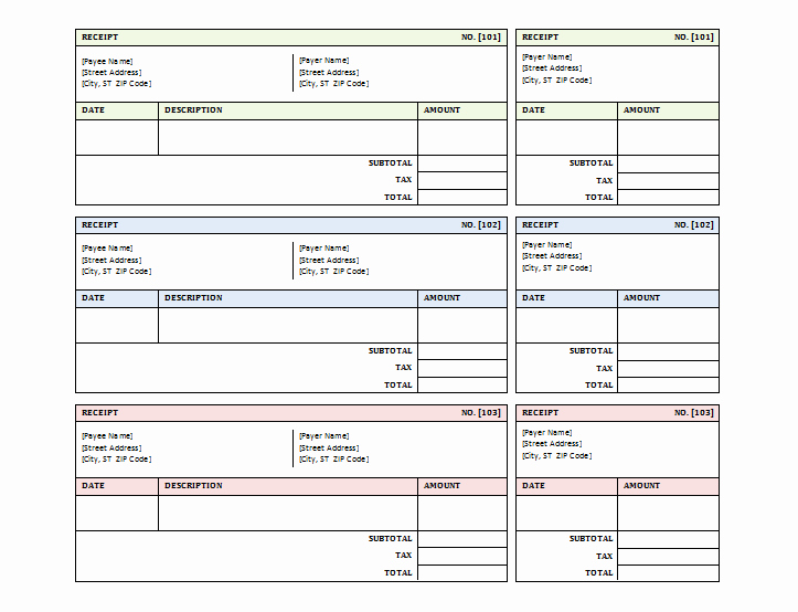 Sales Receipt Template Free Lovely 12 Free Sales Receipt Templates Word Excel Pdf