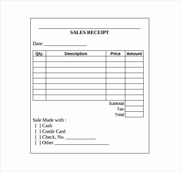 Sales Receipt Template Free New Sales Receipt Template 10 Download Free Documents In
