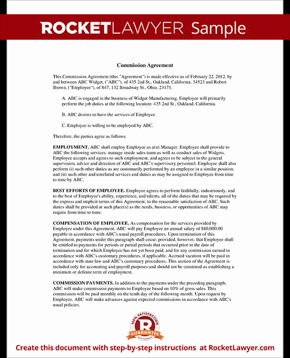 Sales Rep Agreement Template Elegant Sample Sales Representative Agreements Small Business
