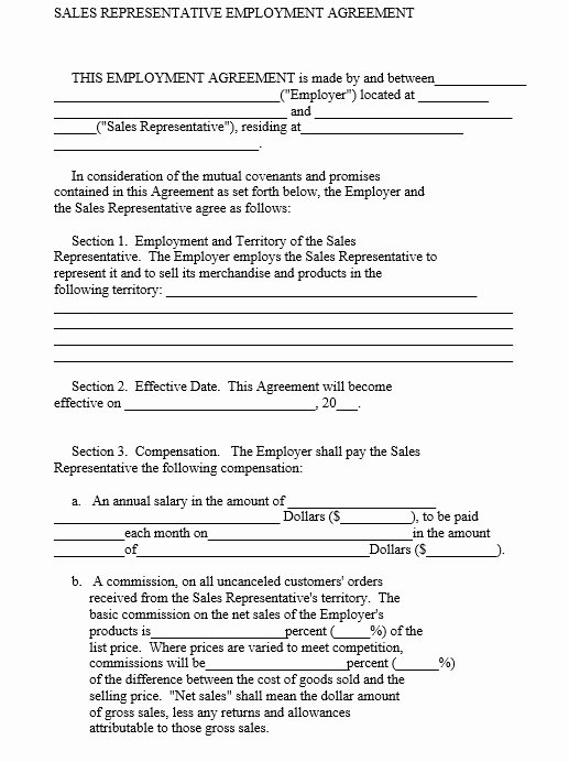 Sales Rep Agreement Template Lovely 9 Free Sample Sales Representative Agreement Templates