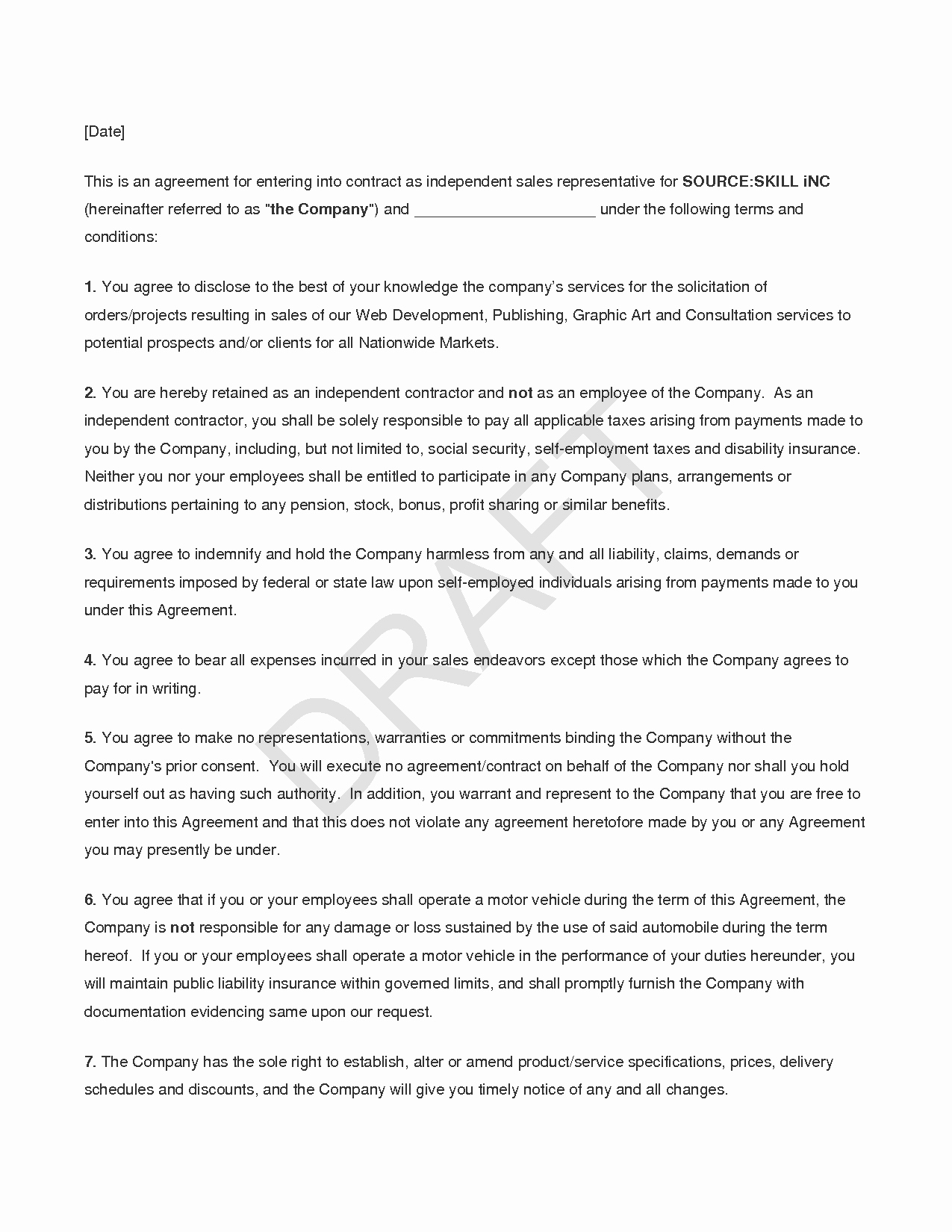 Sales Rep Agreement Template Luxury 10 Best Of Sales Representative Agreement Sample