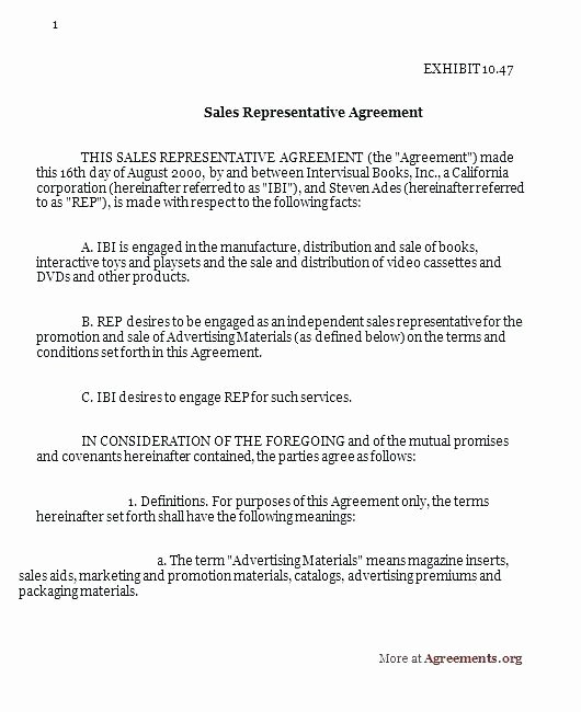 Sales Rep Contract Template Awesome Impressive Subcontractor Agreement Template for