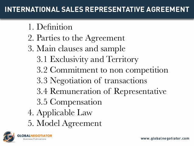 Sales Rep Contract Template Lovely International Sales Representative Agreement Template
