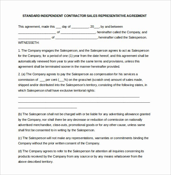 Sales Rep Contract Template New 19 Mission Agreement Templates Word Pdf Pages