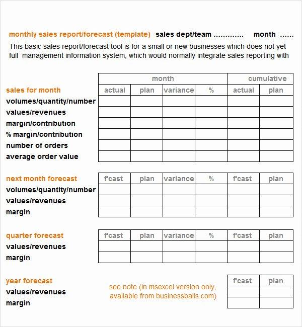 Sales Report Template Excel Unique Sales Report Template 9 Free Pdf Doc Download