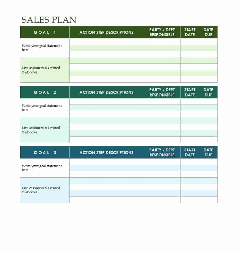 Sales Strategic Plan Template Beautiful 32 Sales Plan & Sales Strategy Templates [word & Excel]