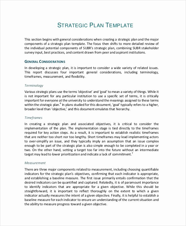 Sales Strategic Plan Template Fresh 49 Examples Of Strategic Plans