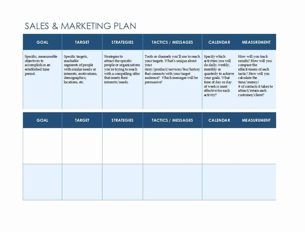 Sales Strategic Plan Template Inspirational 32 Sales Plan & Sales Strategy Templates [word & Excel]