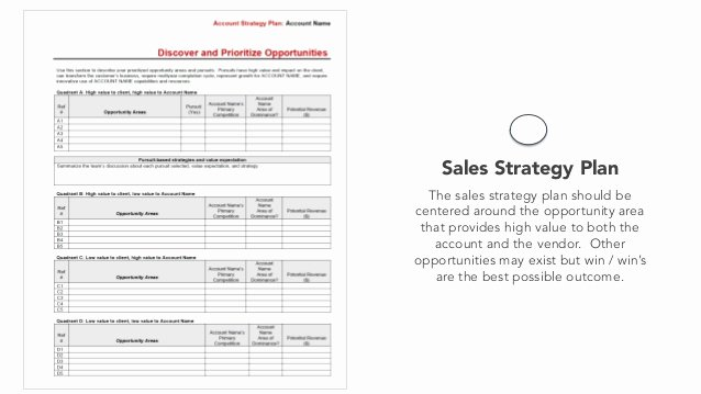 Sales Strategy Plan Template Best Of Sales Planning Sales Strategy Template