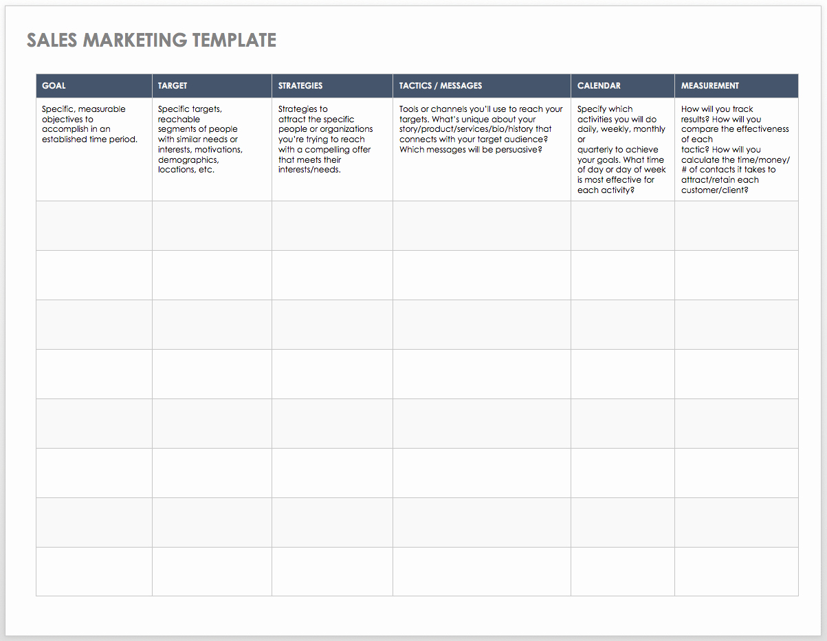 Sales Strategy Plan Template Unique Free Sales Pipeline Templates