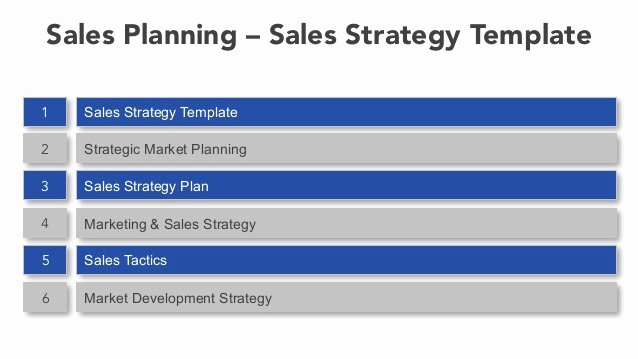 Sales Strategy Planning Template Best Of Sales Planning Sales Strategy Template