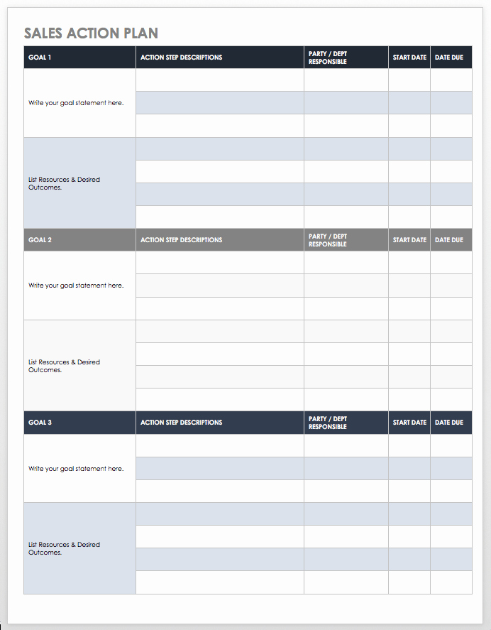 Sales Strategy Planning Template Elegant Free Sales Pipeline Templates