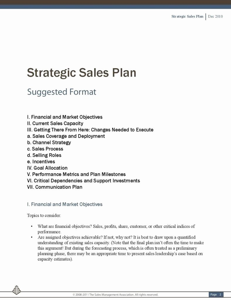 Sales Strategy Planning Template Fresh 5 Sales Strategic Plans