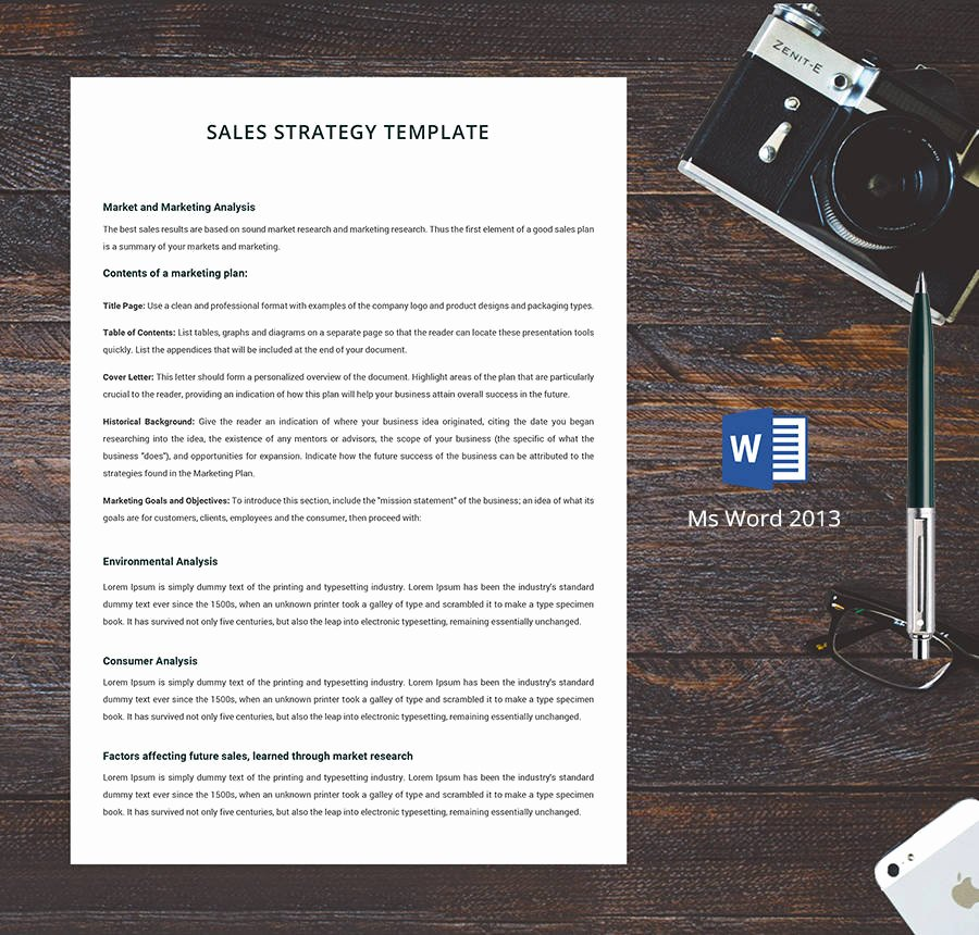 Sales Strategy Planning Template Fresh 7 Free Human Resource Strategy Templates Sales