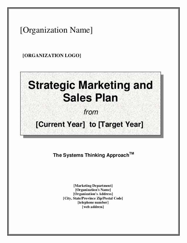 Sales Strategy Planning Template Lovely 7 Free Sales Plan Templates Excel Pdf formats