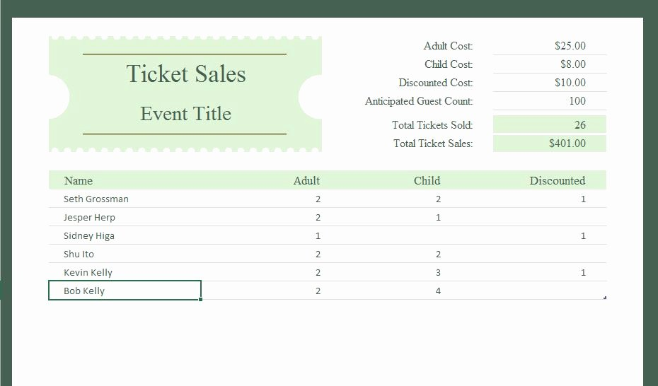 Sales Tracker Excel Template Inspirational Ticket Sales Tracker