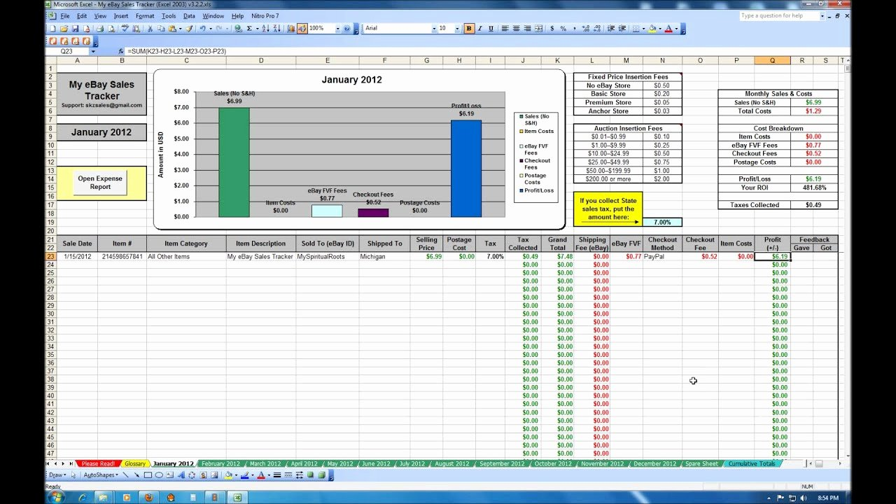 Sales Tracker Excel Template New My Ebay Sales Tracker Spreadsheet