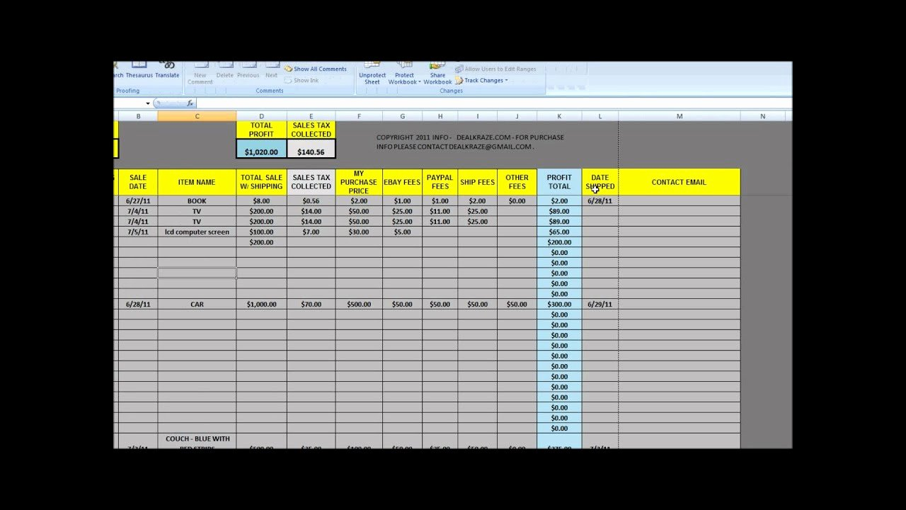 Sales Tracker Excel Template Unique Great tool for Ebay Tracking Sales Sheet From Dealkraze