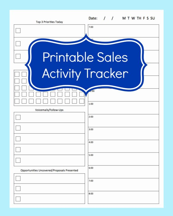 Sales Tracking Spreadsheet Template Inspirational 10 Sales Tracking Templates Free Word Excel Pdf