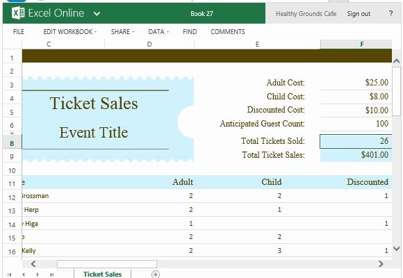 Sales Tracking Spreadsheet Template Unique Ticket Sales Tracker Template for Excel