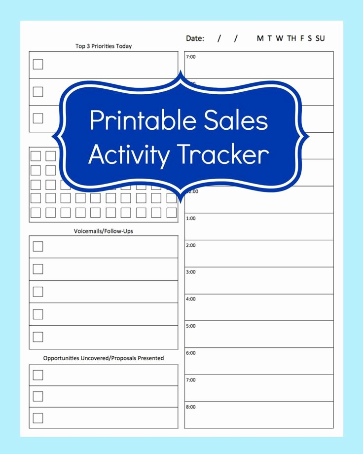 Sales Tracking Template Excel Free Inspirational Sales Activity Tracker Daily Planner Cold Call Tracker