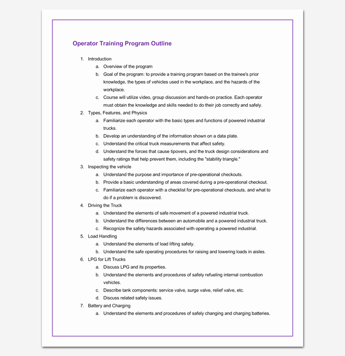 Sales Training Program Template Fresh Training Program Outline Template 19 for Word & Pdf