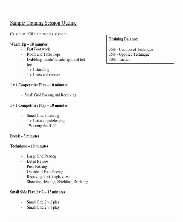 Sales Training Program Template Inspirational 8 Training Outline Templates Free Sample Example format