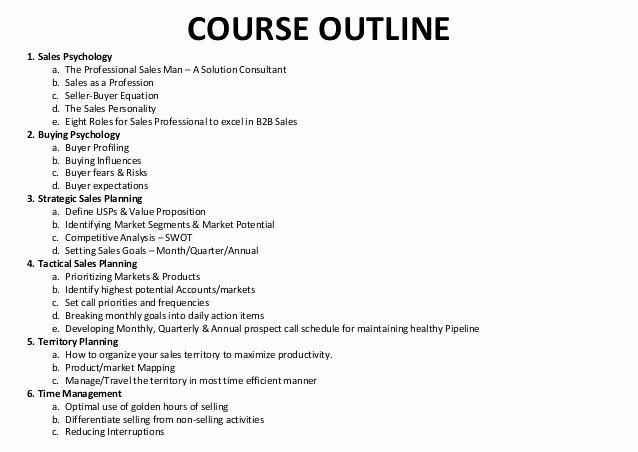 Sales Training Program Template Luxury Rai Trainer Sample Sales Training Course Outline