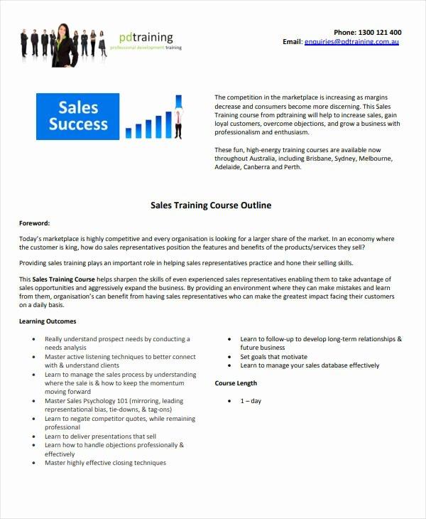 Sales Training Program Template Unique 35 Outline Templates Free Word Pdf Psd Ppt