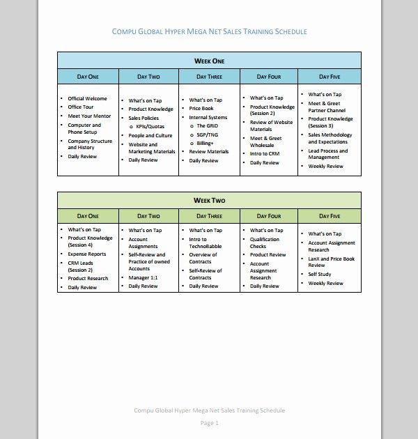 Sales Training Program Template Unique Sales Training Plan Template