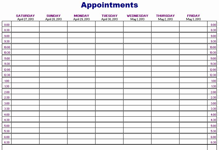Salon Appointment Book Template Awesome Salon Appt Book Salon Appointment Book Template New 20
