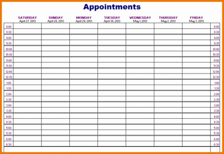 Salon Appointment Book Template Best Of Hair Salon Appointment Book Template Free Printable
