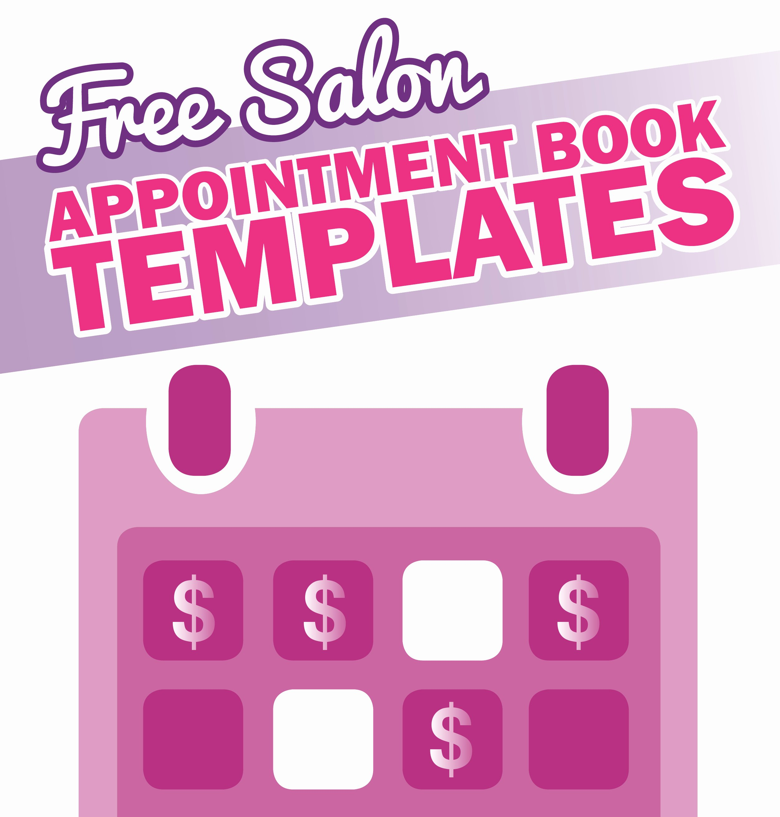 Salon Appointment Book Template Elegant Free Salon Appointment Book Template Worldwide Salon