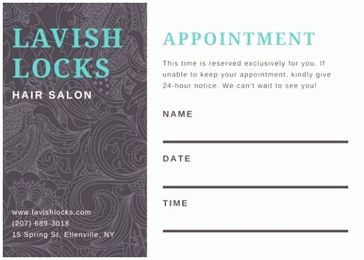 Salon Appointment Book Template Unique 5 Hair Salon Appointment Book Template Iuapr