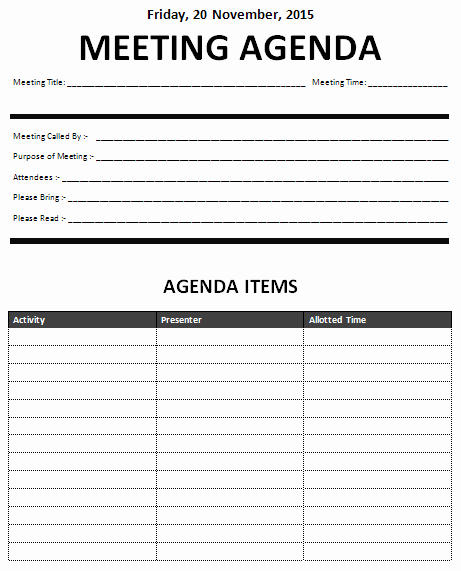 Sample Agenda Template for Meeting Best Of 15 Meeting Agenda Templates Excel Pdf formats