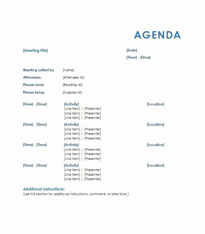 Sample Agenda Template for Meeting Lovely 46 Effective Meeting Agenda Templates Template Lab