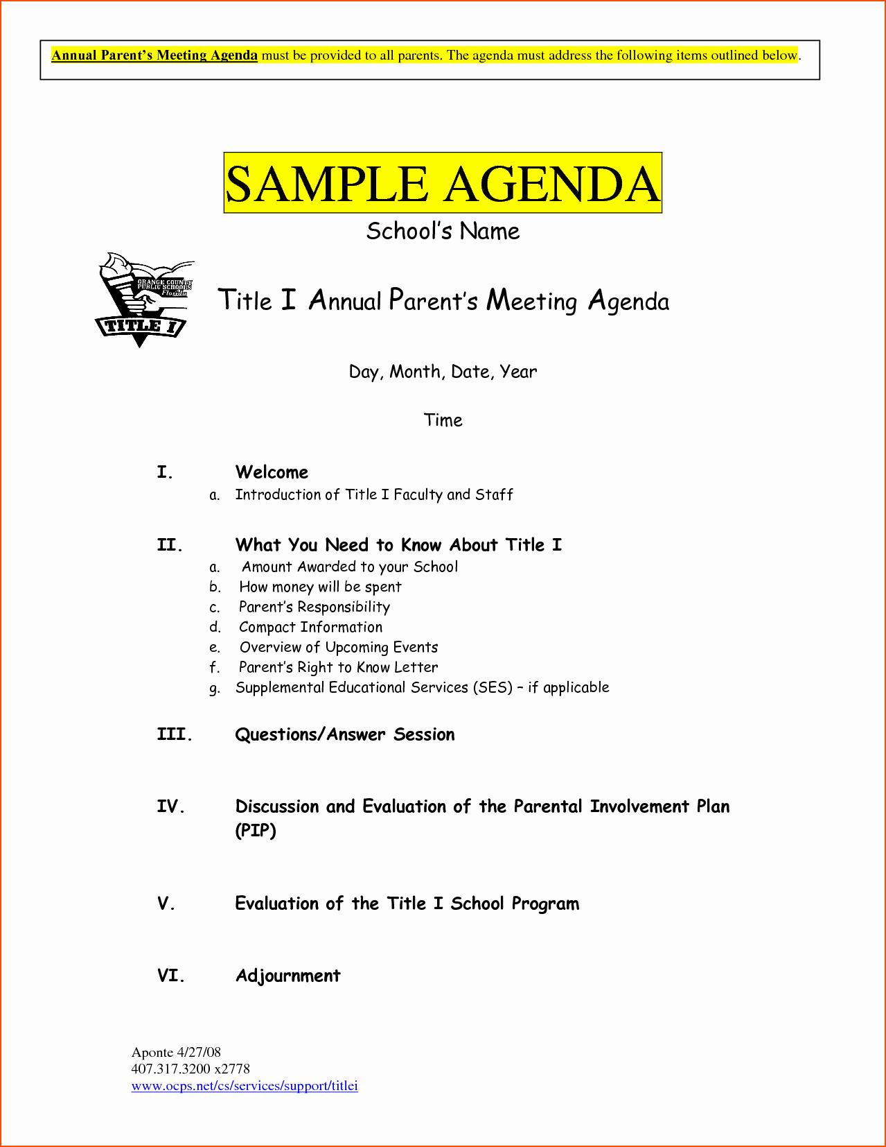 Sample Agenda Template for Meeting Luxury 6 Sample Meeting Agenda Template Bookletemplate