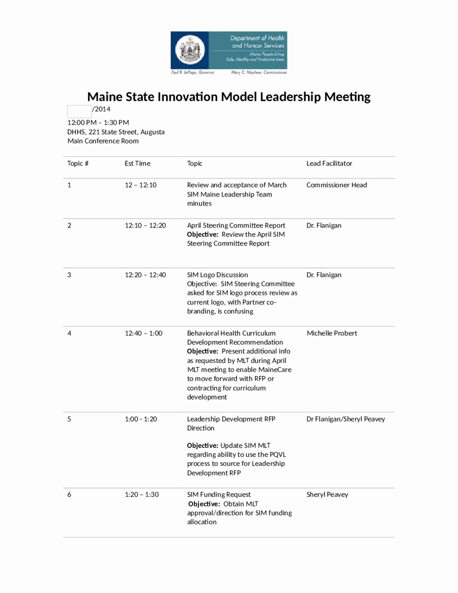 Sample Agenda Template for Meetings Best Of Agenda for Meeting Example Mughals