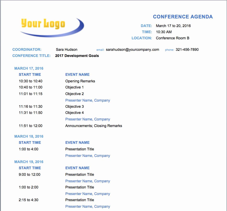 Sample Agenda Template for Meetings Unique Free Meeting Agenda Templates Smartsheet