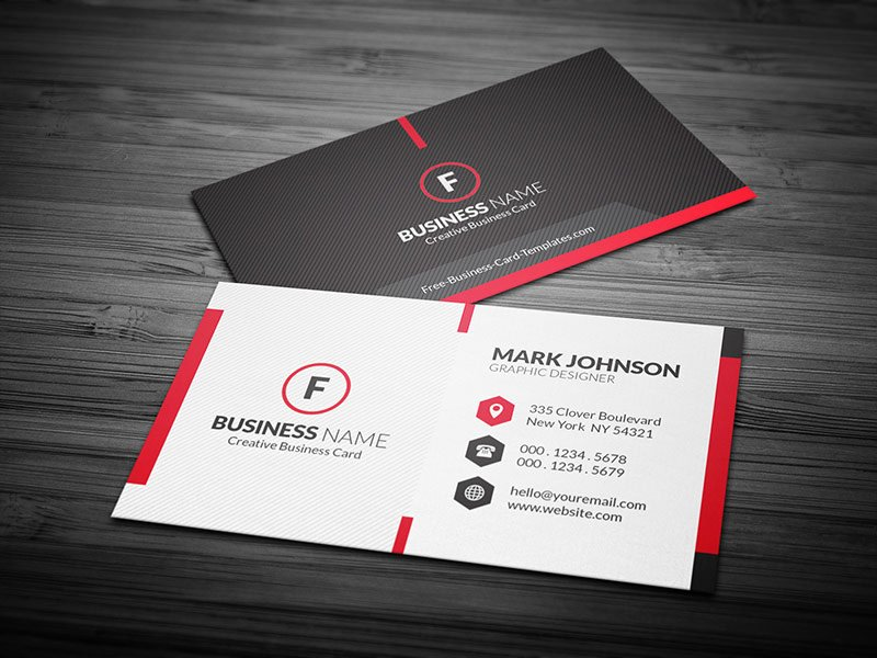 Sample Business Card Template Beautiful Scarlet Red Creative Business Card Template Free