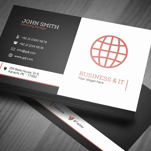 Sample Business Card Template Best Of Free Corporate Business Card Template Psd