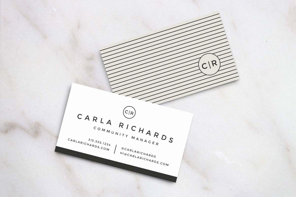 Sample Business Card Template Elegant 20 Examples Of A Stylish Business Card Shop Template