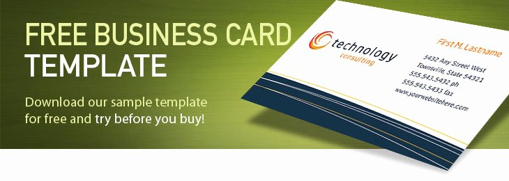 Sample Business Card Template Elegant Free Business Card Template