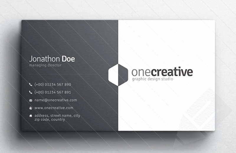 Sample Business Card Template Fresh Business Card Design Slim Image