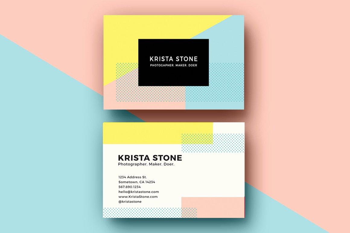 Sample Business Card Template Lovely Geo Shapes Business Cards Template Business Card