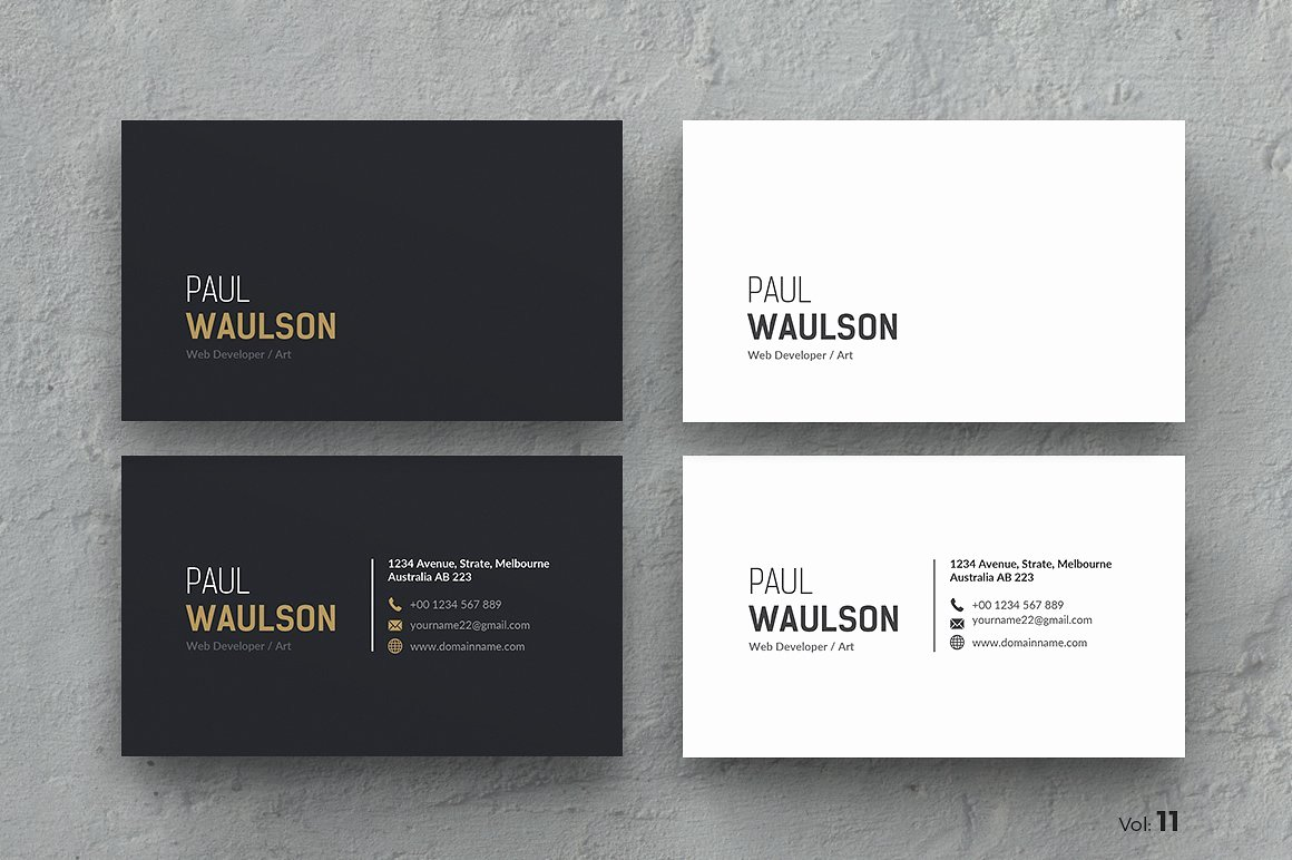 Sample Business Card Template Luxury Business Card Business Card Templates Creative Market