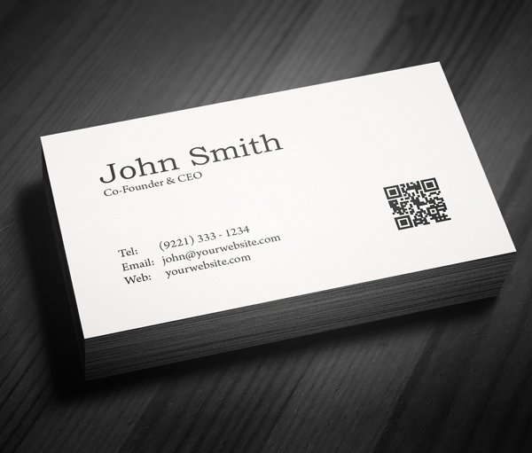 Sample Business Card Template Luxury Free Minimal Business Card Psd Template